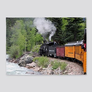 Steam Train Area Rugs - CafePress