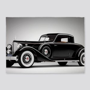 Vintage Retro Car 5'x7'Area Rug
