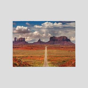 Road Trough Desert 5'x7'Area Rug