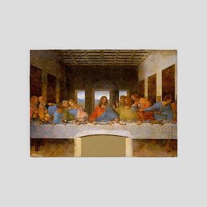 The Last Supper Leonardo Da Vinci 5'x7'Area Rug