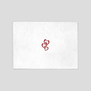 3 Hearts 5'x7'Area Rug