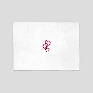 3 Hearts 2 5'x7'Area Rug