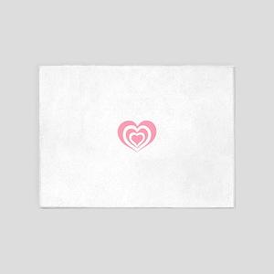 Cascading Hearts 5'x7'Area Rug