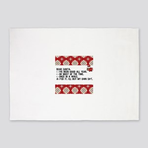 Dear Santa..adult humor 5'x7'Area Rug