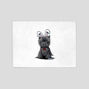 Easter Affenpinscher 5'x7'Area Rug