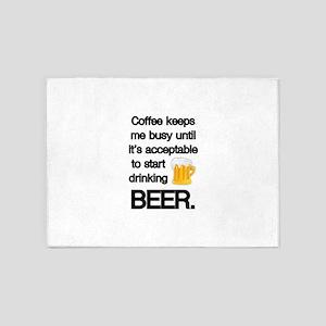 Coffee Until Beer 5'x7'Area Rug