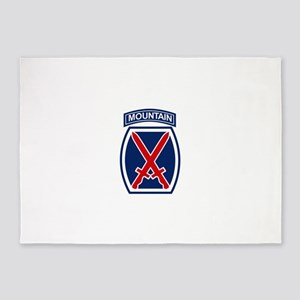 10th Mountain Division 5'x7'Area Rug