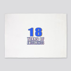 18 Years Of Awesomeness 5'x7'Area Rug