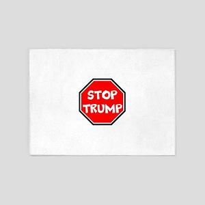 stop trump, anti trump 5'x7'Area Rug