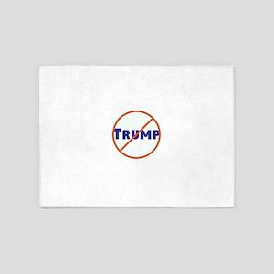 Anti Trump! No Trump 5'x7'Area Rug