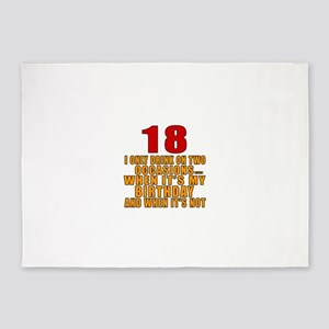 18 birthday Designs 5'x7'Area Rug