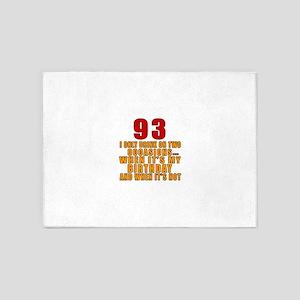 93 Birthday Designs 5'x7'Area Rug