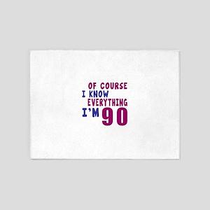 I Know Everythig I Am 90 5'x7'Area Rug