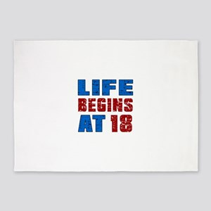 Life Begins At 18 5'x7'Area Rug