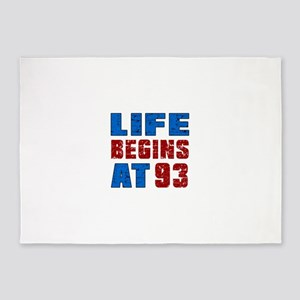 Life Begins At 93 5'x7'Area Rug