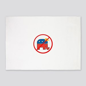 No Trump, Republican elephant 5'x7'Area Rug
