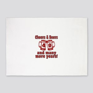 Cheers And Beers 40 And Many More Y 5'x7'Area Rug