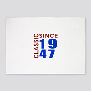 Classic Since 1947 Birthday Designs 5'x7'Area Rug