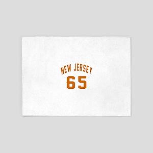 New Jersey 65 Birthday Designs 5'x7'Area Rug