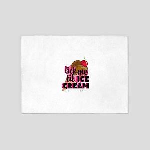 lick me til ICE CREAM adult humor 5'x7'Area Rug