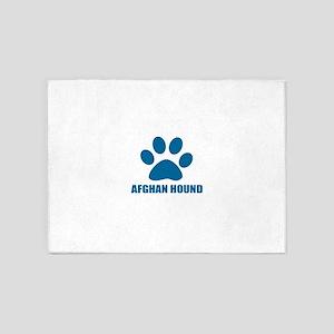 Afghan Hound Dog Designs 5'x7'Area Rug