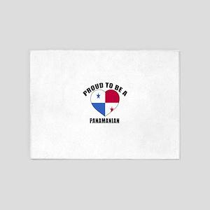 Panama Patriotic Designs 5'x7'Area Rug