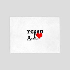 Vegan 5'x7'Area Rug