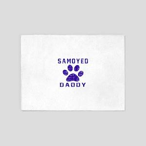 Samoyed Daddy Designs 5'x7'Area Rug
