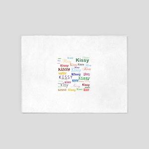 KISSY,KISSY,KISSY,KISSY. RESTORE TH 5'x7'Area Rug