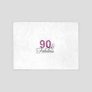 90 and Fabulous 5'x7'Area Rug