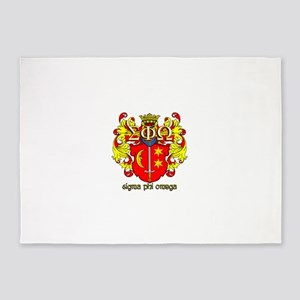 Sigma Phi Omega Crest 5'x7'Area Rug