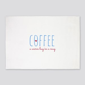 Coffee. A Warm Hug in a Mug. 5'x7'Area Rug