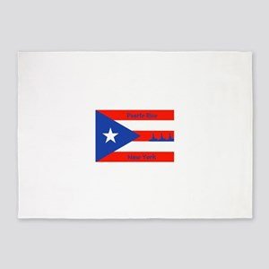 Puerto Rico New York Flag Lady Libe 5'x7'Area Rug