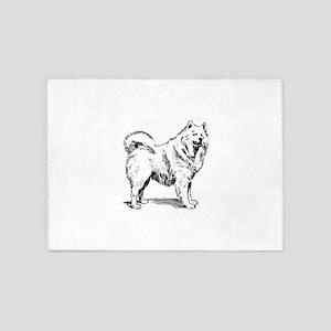 Samoyed dog 5'x7'Area Rug