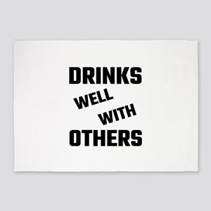 Drinks Well With Others 5'x7'Area Rug
