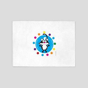 FRISKERS THE CAT (Rainbow 1a) 5'x7'Area Rug