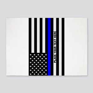 Thin Blue Line 5'x7'Area Rug