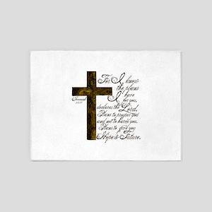 Plan of God Jeremiah 29:11 5'x7'Area Rug