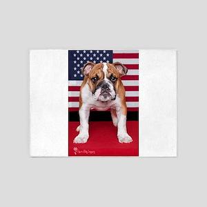 All American Bulldog 5'x7'Area Rug