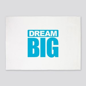 Dream Big - Blue 5'x7'Area Rug