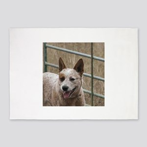 australian cattle dog red 5'x7'Area Rug