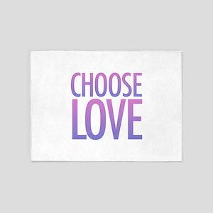 Choose Love 5'x7'Area Rug