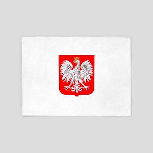 Polska Football Coat of Arms Euro 2 5'x7'Area Rug