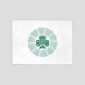 Dorchester, MA Celtic 5'x7'Area Rug