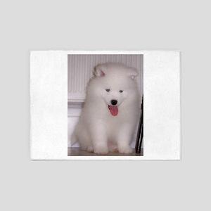 puppy samoyed 5'x7'Area Rug