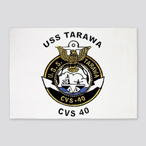 USS Tarawa CVS-40 5'x7'Area Rug
