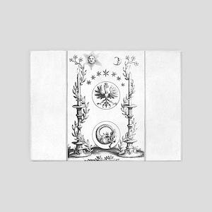 Alchemy Hermetecism print from the 1700s 5'x7'Area