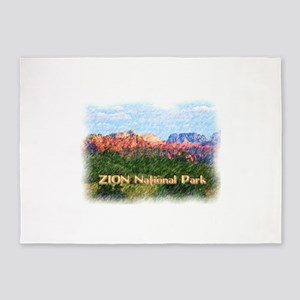 Zion National Park, Utah 5'x7'Area Rug