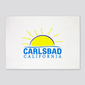Summer carlsbad state- california 5'x7'Area Rug