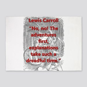 No No The Adventures First - L Carroll 5'x7'Area R